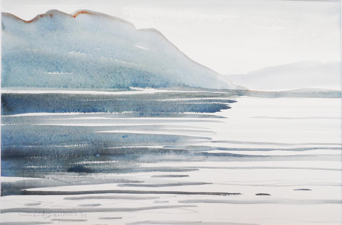 David Hawkins Watercolour - Holy Loch