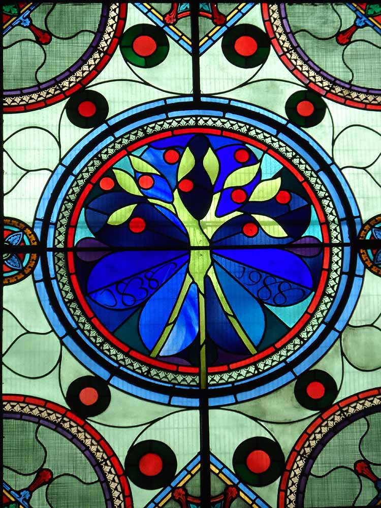 Roots and Shoots - David Hawkins stained glass window